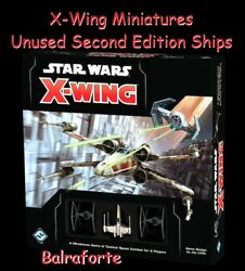 UNUSED 2nd edition X-Wing Miniatures ships no upgrades pulled from packaging $10.50