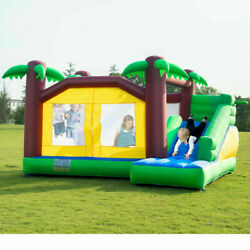 Inflatable Jungle Bounce House Slider Kids crawl Jumper Castle Playground