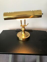 "Vintage brass bankers desk piano lamp office antique gold mid century 10"" Lamp"