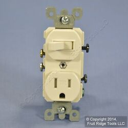 Leviton Light Almond TAMPER RESISTANT Wall Toggle Switch Outlet 15A Bulk T5225 T