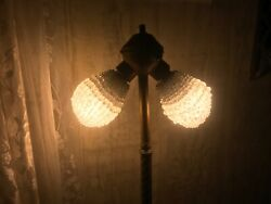 TWO Vintage BEADED GLASS CRYSTAL LIGHT BULB COVERS   5