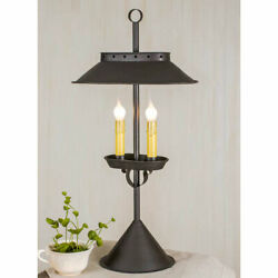 Primitive Rustic Large Double Candle Accent Table Lamp Vintage Style FREE SHIP $72.95
