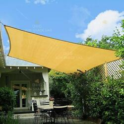 Sun Shade Sail Canopy Rectangle Sand Uv Block Sunshade For Backyard Deck Outdoor $27.99
