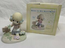 Precious Moments Figurine: Sow Much To Do Garden Till Your Heart#x27;s Content. $29.99