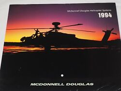 McDonnell Douglas Helicopter Systems 1994 CALENDAR COLOR PHOTO 11quot; X 19.5quot; $12.95