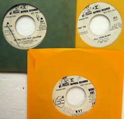 TINY TIM Lot of 3x45rpm Singles on REPRISE pop promos CtLot272 $20.00
