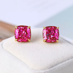 Kate Spade Small Square Stud Pink Glitter Earrings w Gift Box $15.19
