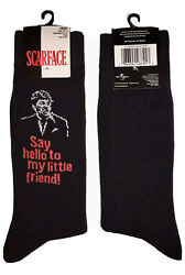 New SCARFACE Mens Novelty Crew Socks Al Pacino #x27;SAY HELLO TO MY LITTLE FRIEND#x27; $5.99