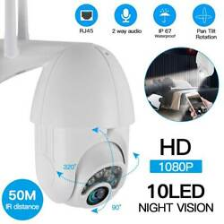 1080P 10 23 LED WIFI IP CCTV Security Camera Wireless Outdoor HD Home PTZ IR Cam $42.99