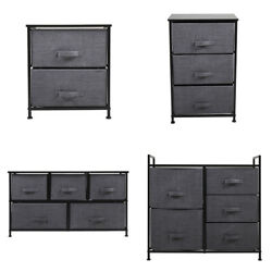 Nightstand Storage End Table Bedside Organizer Non woven Multi Drawers Bedroom $29.99