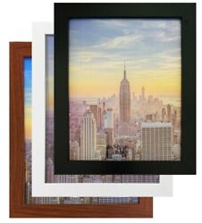 box Frame Amo Black Wood Picture Frame or Poster Frame 1 Inch Wide Refurbished