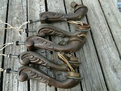 5 Vintage Wooden Arms Chandelier Parts Antique Wood Part for Chandelier $79.99