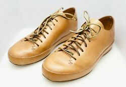 Feit Hand Sewn Low Brown Leather Shoes Size 44 US Size 11