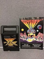 Odyssey 2 Out of this World Helicopter Rescue Game Cartridge amp; Manual 1979 $4.79