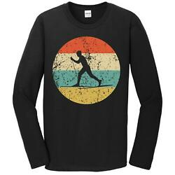 Cross Country Skiing Shirt Retro Cross Country Skier Long Sleeve T Shirt $31.99