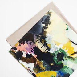 Art print abstract landscape wall decoration contemporary room decor 12x12 $19.00