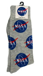 New NASA Mens Novelty Crew Socks Size 6 12 NASA Logo $5.99