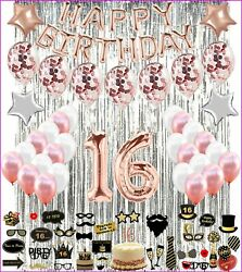 16th Birthday Decorations SWEET SIXTEEN Party 16 with Cake Topper amp; PHOTO PROPS $27.95