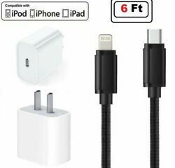 Premium Quality 18W Fast Charge USB C Power Adapter Cable for iPhone 11 Pro Max $13.49