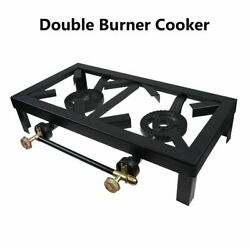 Portable Propane Dual Cooker Burner Stove Gas Outdoor Cooking Camping BBQ Grill $29.98