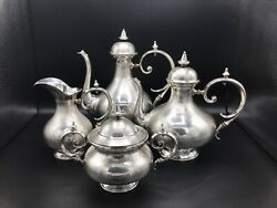 Antique Biedermeier Guilloche Silver Tea Set mark of Diederich Floerckenc.1830 $1800.00