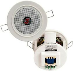 5 Core In Ceiling In Wall Speakers Flush Mount Home AUDIO Speaker 3quot; White Grill $19.99