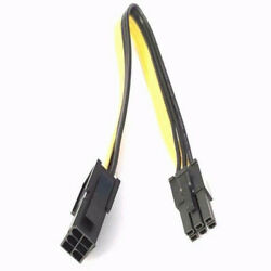 GPU PCI E 6 Pin Male To 6 Pin Female Power Extension Cable Adapter 18 AWG 20CM $7.59