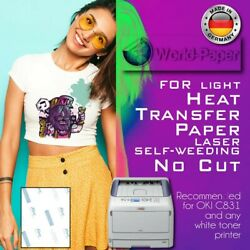 Heat Transfer Paper Light fabric Laser Free Style Weeding 10 Sheets 8.5quot;x11quot; $11.99