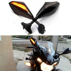 Motorcycle Integrated LED Turn Signal Mirrors For Hyosung GT125R GT250R GT650R