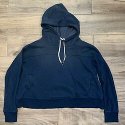 Out From Under Women#x27;s Cropped Pullover Hoodie. Sz Small $29.99 Blue Pre owned $15.00