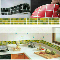10x100cm DIY Self Adhesive Mosaic Wall Stickers Tile Bathroom Kitchen Home Decor