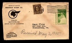 1935 Seminole Stamp Co Commercial Cover L9395