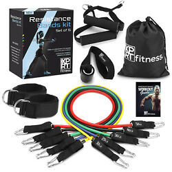 XPRT Fitness 11 PCS Resistance Bands Set Home Gym Exercise Tube Bands Training $29.99