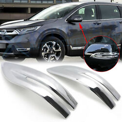 Chrome Side Rearview Mirror Stripe Cover Trim For Honda CR-V CRV 2017 2018 2019 $17.99