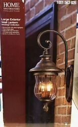Home Decorators Collections Large Exterior Wall Lantern 11 L x8.38 W x22.12 H in