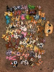 Littlest Pet Shop Lot of 59 Assorted Dogs Cats Birds Exotic Animals