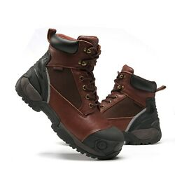 Work Boots for Men Composite Toe Molded Rubber Waterproof Safety Working Shoes $64.99