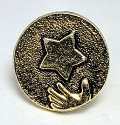 Vtg Reach For The Stars Lapel Pin Metal Embossed Pinback $4.20