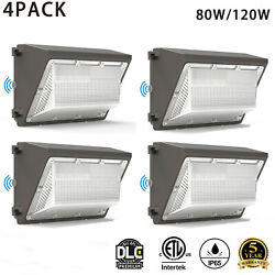 4 PCS 120W LED Wall Pack Light 80W Commercial Industrial Outdoor Flood Security $542.63