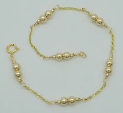 14K Solid Gold 4mm Gold Beads bracelet 7 1 2quot; $74.89