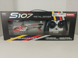 Syma 3CH Mini Helicopter RC Drone Gyro Metal Infrared S107G Red NEW $16.95