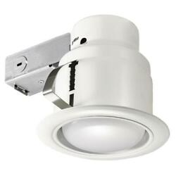 Commercial Electric Recessed Lighting Kit 5 in. LED Swivel Baffle Round Trim