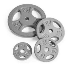 Pair of 2.5 510 or 25 lb CAP Cast Iron Standard 1quot; Grip Plates Barbell Weight $164.88