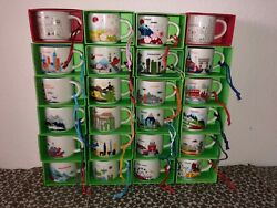 Starbucks Ornament small mugs quot;You Are Herequot; collection 2oz Discontinued $29.00