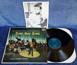 TOMMY SANDS - SING BOY SING - CAPITOL - LP SOUNDTRACK + INSCRIBED PHOTO