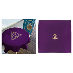 1pc Velvet Tarot Cloth Embroidery Crafts for Tarot Cards Parts Purple 60x60 $12.70