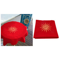 Velvet Tarot Cloth Embroidery for Table Games Tarot Cards Parts Red 80x80 $17.53