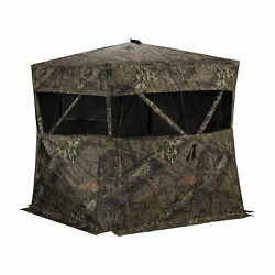 Rhino Blinds R150-MOC Durable 3 Person Outside Hunting Ground Blind, Mossy Oak $109.99