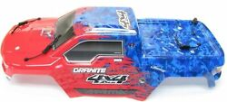 Arrma GRANITE 4x4 3s BLX - Body Shell Red/Blue painted $39.99