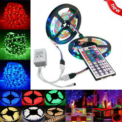 10M 3528 SMD RGB 600 LED Lighting Strips 44 Key Remote Controller for TV Room A
